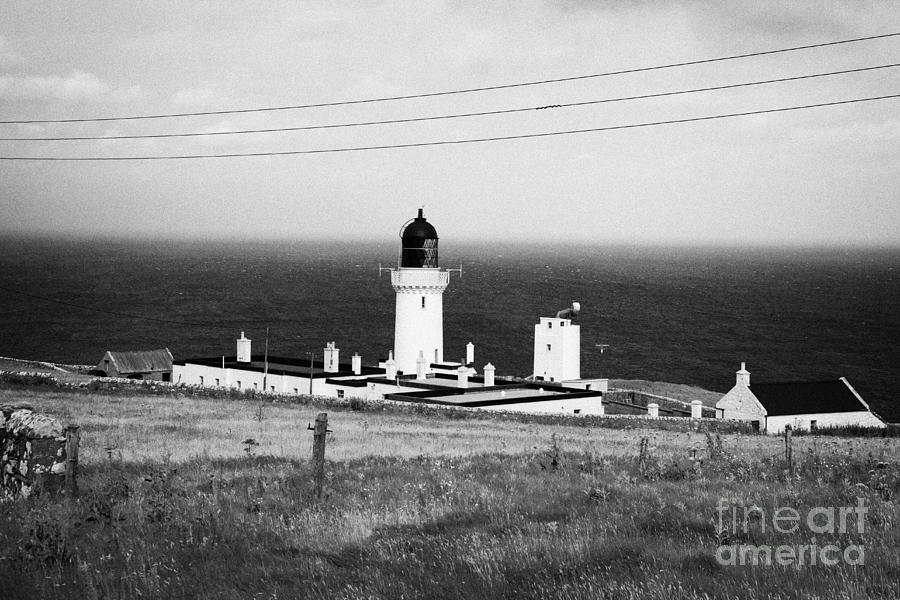 Head Photograph - The Lighthouse At Dunnet Head Most Northerly Point Of Mainland Britain Scotland  by Joe Fox