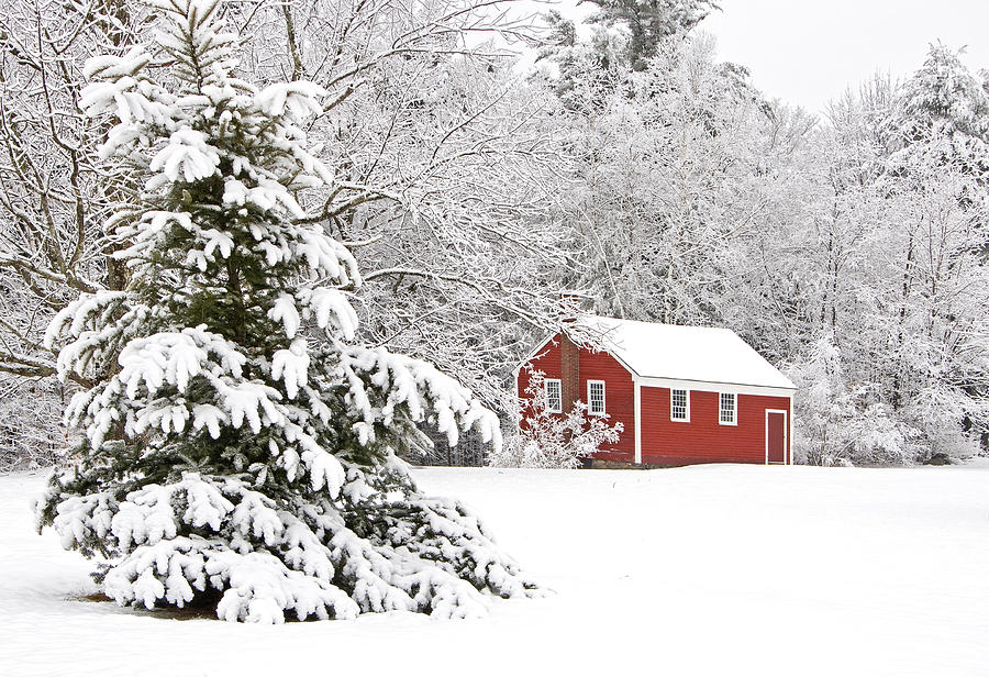 New Hampshire Photograph - The Little Red School House by Gordon Ripley