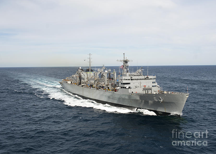 Usns Supply Photograph - The Military Sealift Command Fast by Stocktrek Images