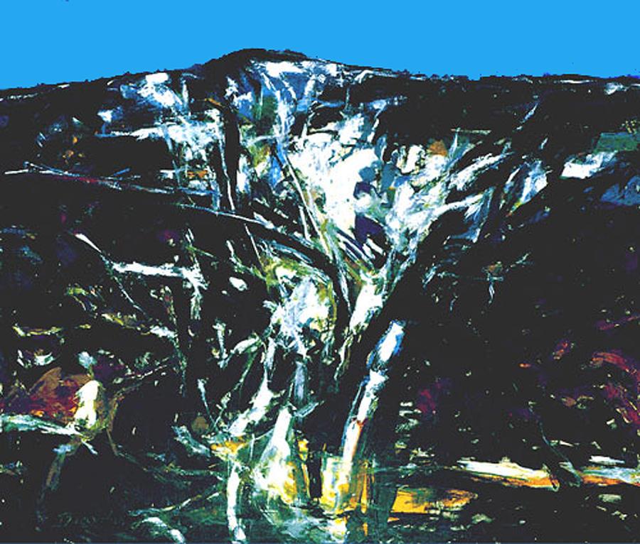 Landscape Painting - The Mount Sinjajevina by Vladimir Vlahovic