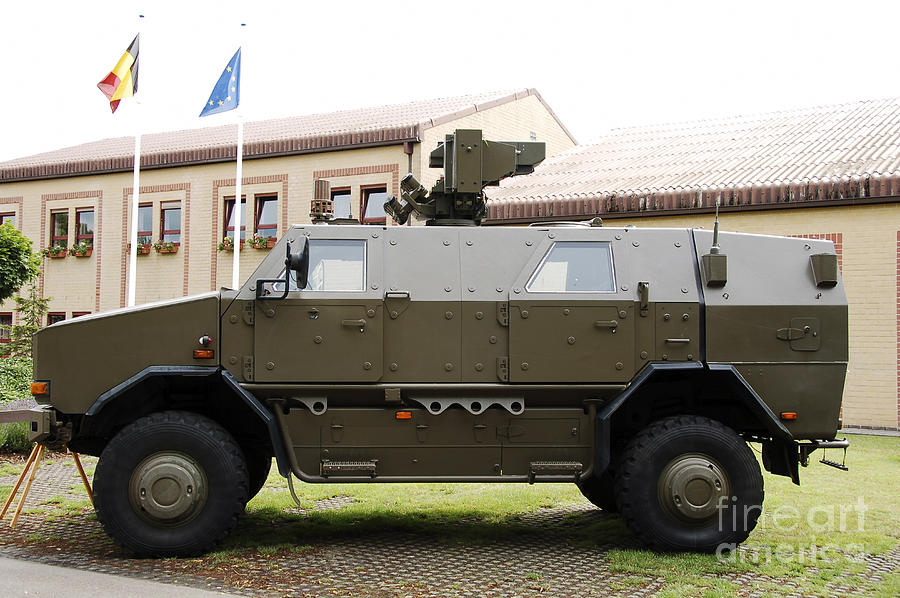 Armament Photograph - The Multi-purpose Protected Vehicle by Luc De Jaeger