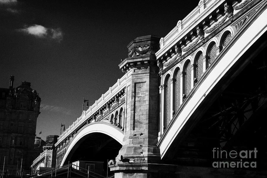 The Photograph - The North Bridge Edinburgh Scotland Uk United Kingdom by Joe Fox
