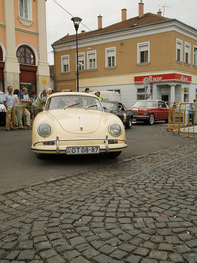 Old Photograph - The Old Porshe by Odon Czintos