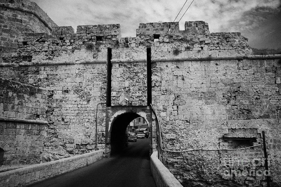 Turkish Photograph - The Porta Di Limisso The Old Land Gate In The Old City Walls Famagusta Turkish Republic Cyprus by Joe Fox
