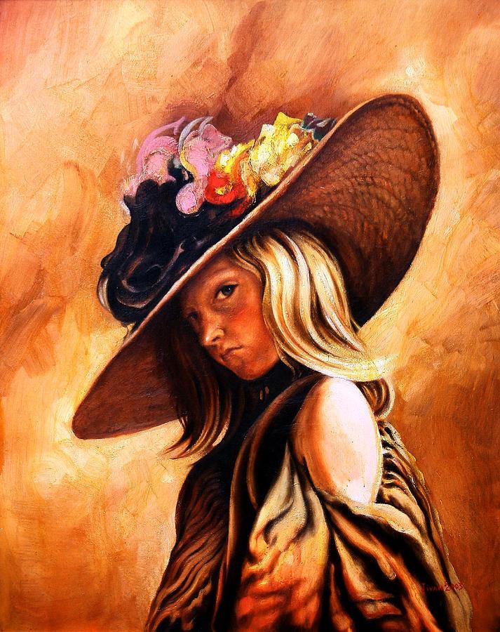 The Portrait Painting - The Portrait Of A Girl by Jivan Hovhannisian