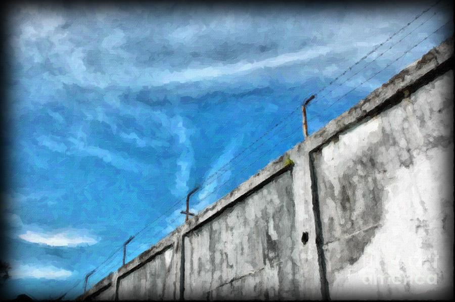 Prison Photograph - The Prison Walls by Antoni Halim