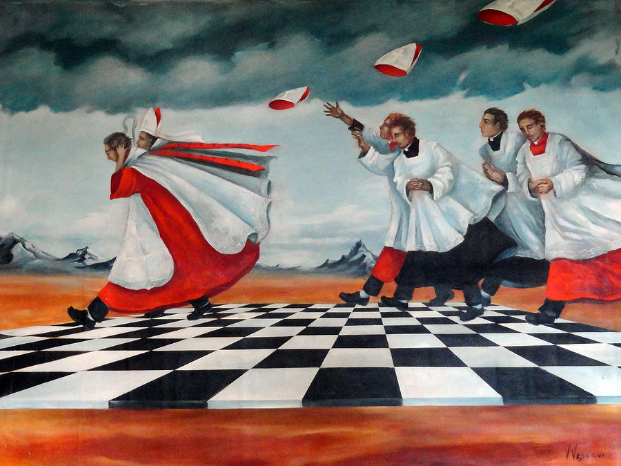 Priests Painting - The Procession by Valerie Vescovi