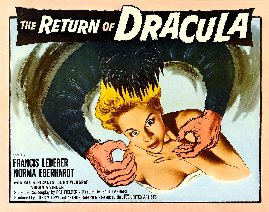 1958 Movies Photograph - The Return Of Dracula, Francis Lederer by Everett
