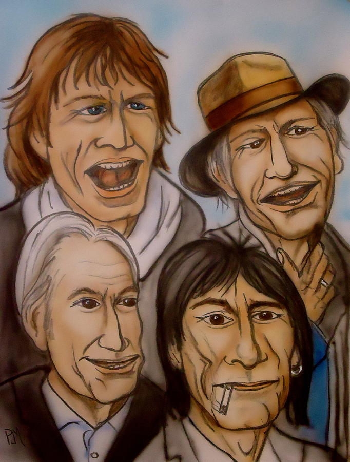 The Rolling Stones Painting - The Rolling Stones by Pete Maier
