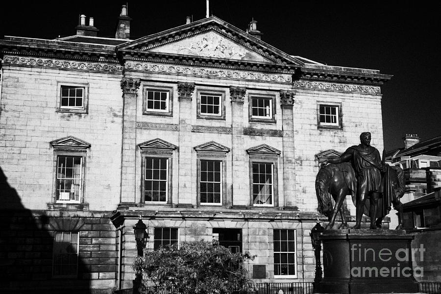 The Photograph - The Royal Bank Of Scotland Edinburgh Scotland Uk United Kingdom by Joe Fox