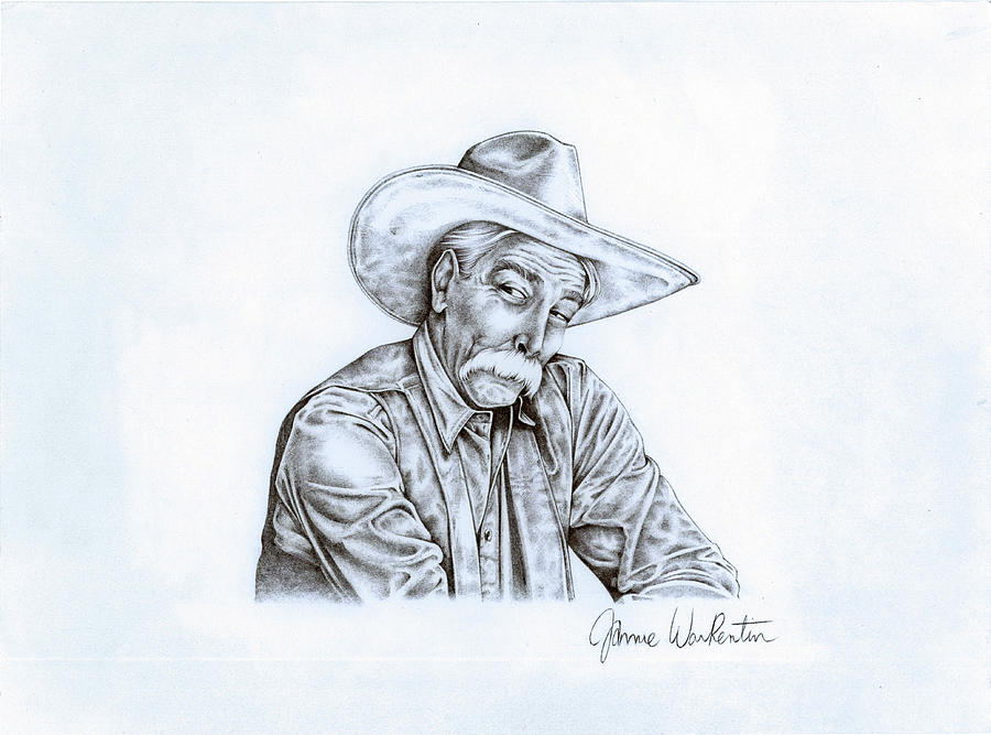 Pen Drawing Drawing - The Stranger by Jamie Warkentin