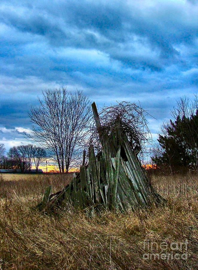 Nostalgia Photograph - The Woodstack by Julie Dant