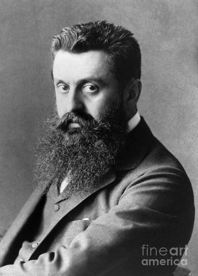 19th Century Photograph - Theodor Herzl (1860-1904) by Granger