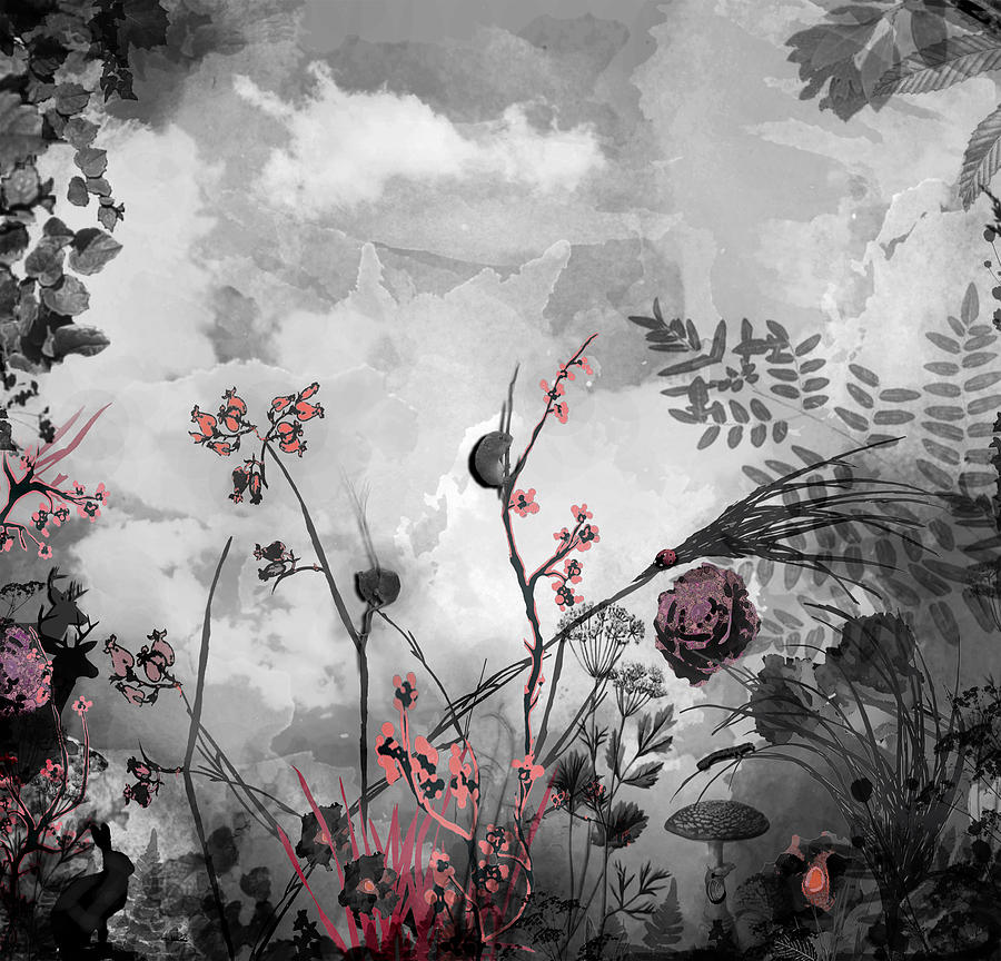 Flowers Digital Art - There Is A Storm Coming by Carly Ralph