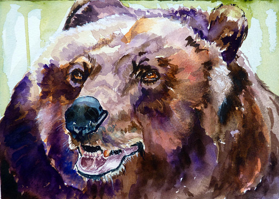 Bear Painting - This Is Me Smiling by P Maure Bausch