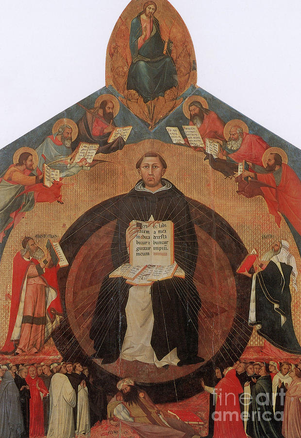 History Photograph - Thomas Aquinas, Italian Philosopher by Photo Researchers