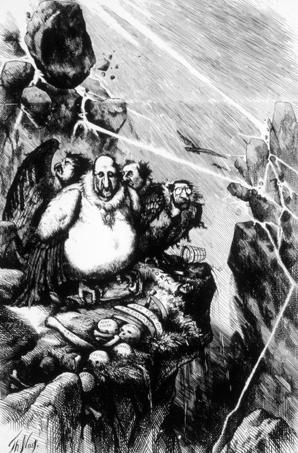 Thomas Nast Political Cartoon Depicting