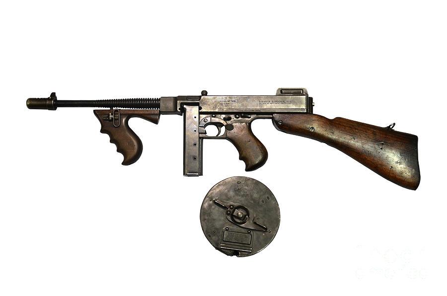 Thompson Model 1928 Submachine Gun Photograph by Andrew