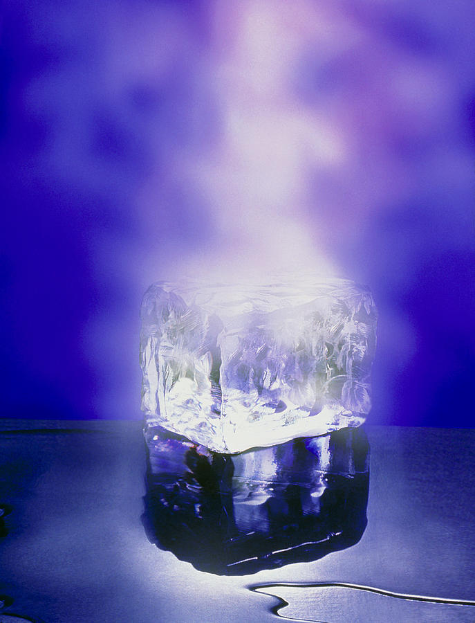Three States Of Matter, Ice, Water, Steam Photograph by ...