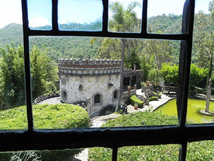 Castle Photograph - Through The Window by Jesus Nicolas Castanon