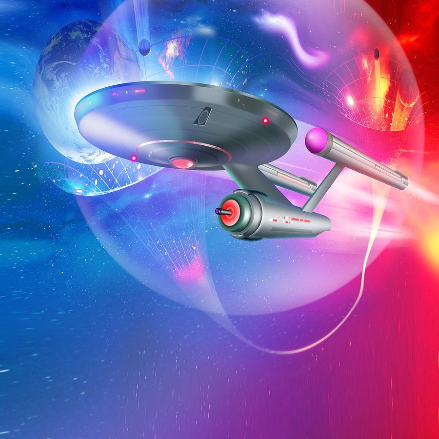 Artwork Photograph - Time Travelling Spacecraft, Artwork by Detlev Van Ravenswaay