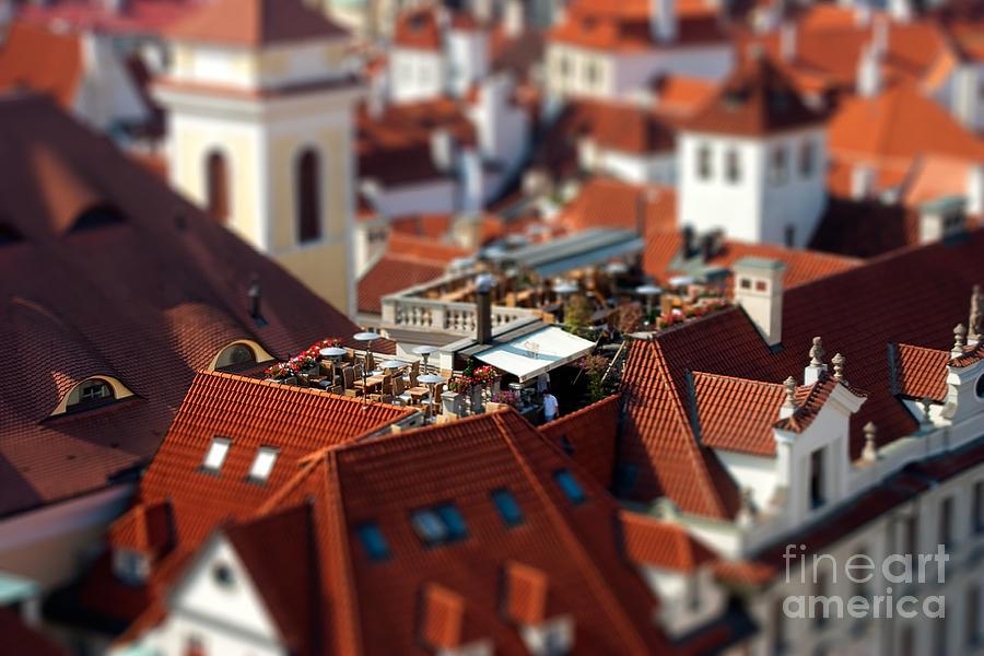 Czech Republic Photograph - Tiny Roof Restaurant by Joerg Lingnau
