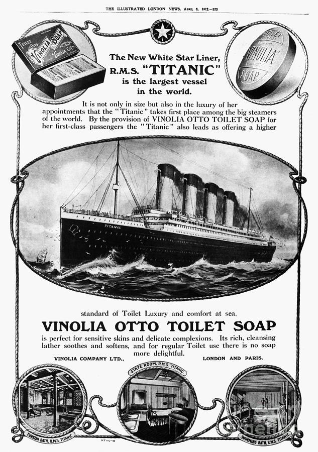 Titanic: Soap Ad, 1912 Photograph by Granger