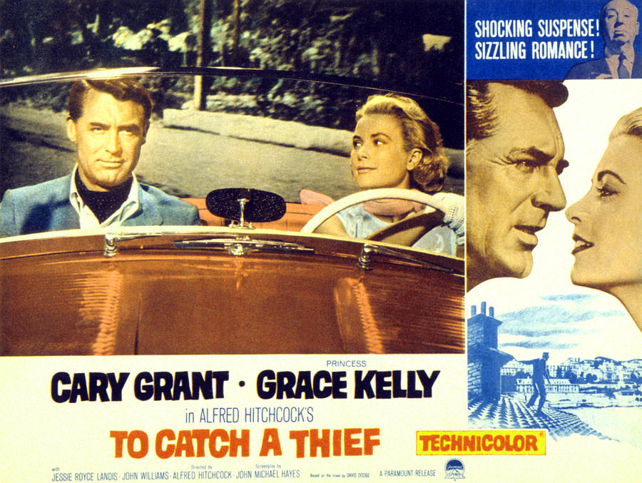 1955 Movies Photograph - To Catch A Thief, Poster Art, Cary by Everett