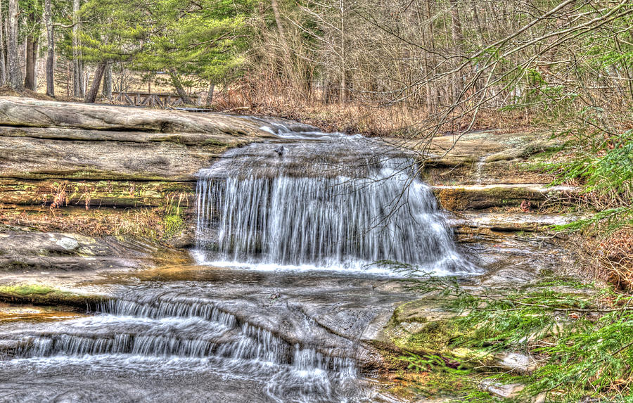 Forest Photograph - Top Of The Upper Falls by Shirley Tinkham