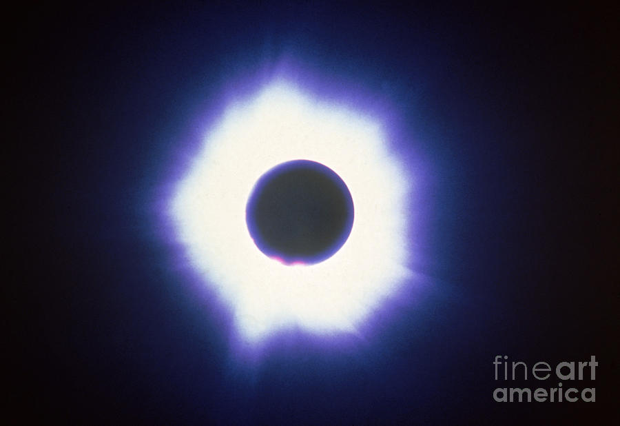 Astronomical Photograph - Total Solar Eclipse With Corona by Science Source