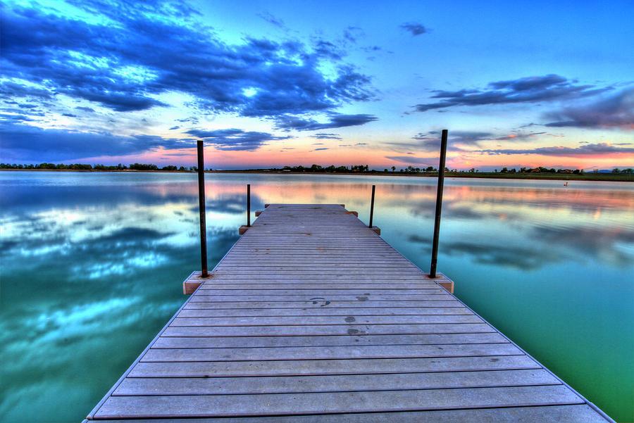 Colorado Photograph - Tranquil Dock by Scott Mahon