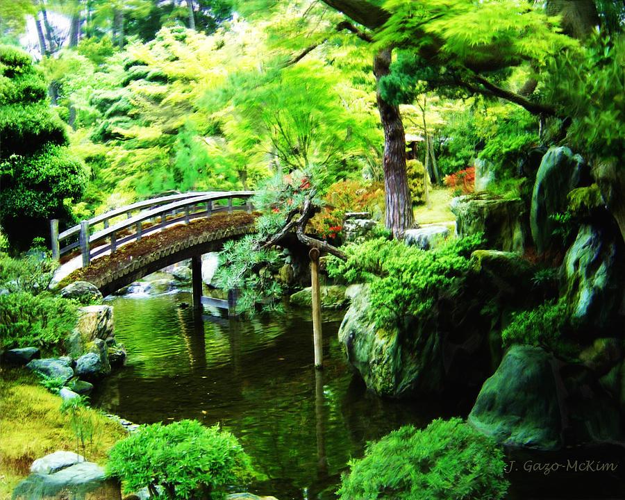 Tranquil garden digital art by jo anne gazo mckim for Tranquil garden designs