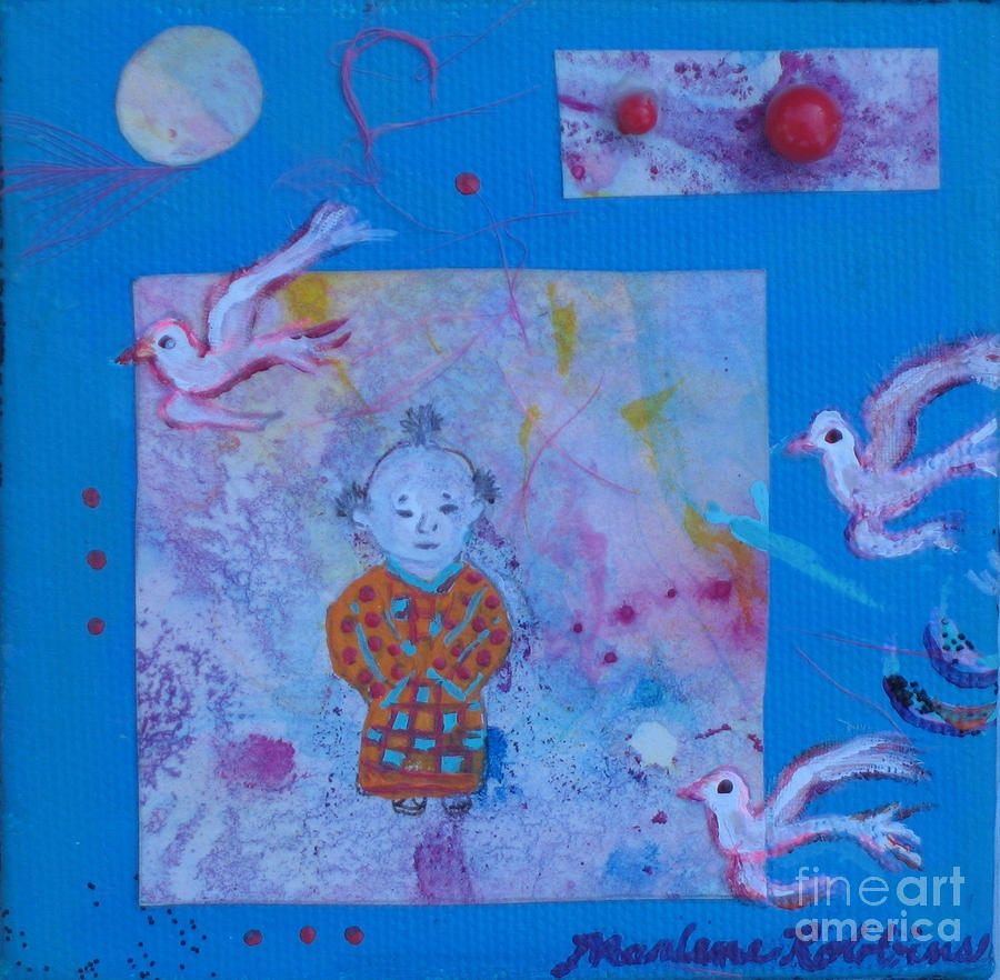 Man Mixed Media - Tranquil Moment by Marlene Robbins