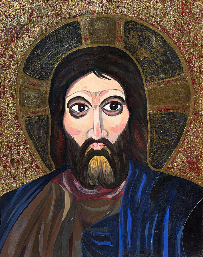 Jesus Painting - Transylvanian Influence by Claudia French