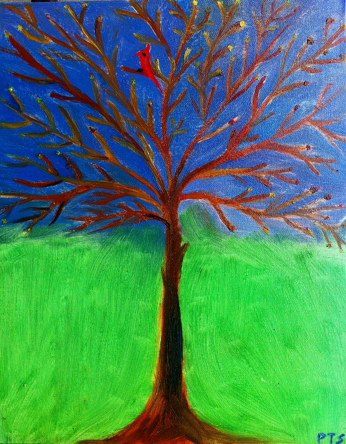 Spring Painting - Tree Of Life by Prachi  Shah