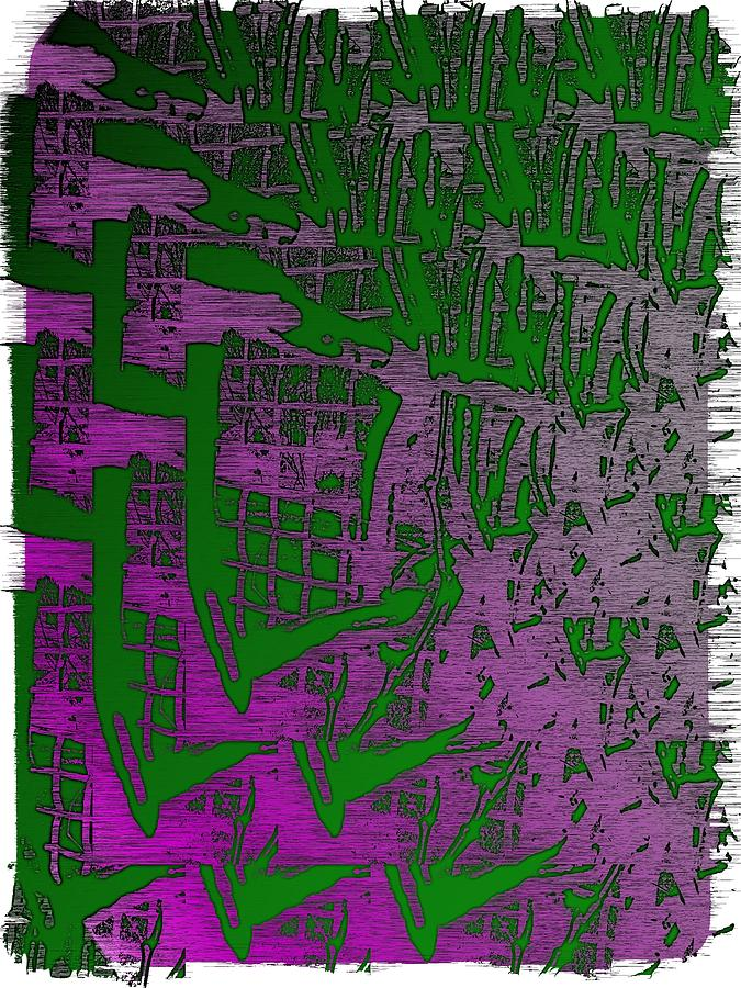 Abstract Digital Art - Trellis In The Mist by Tim Allen