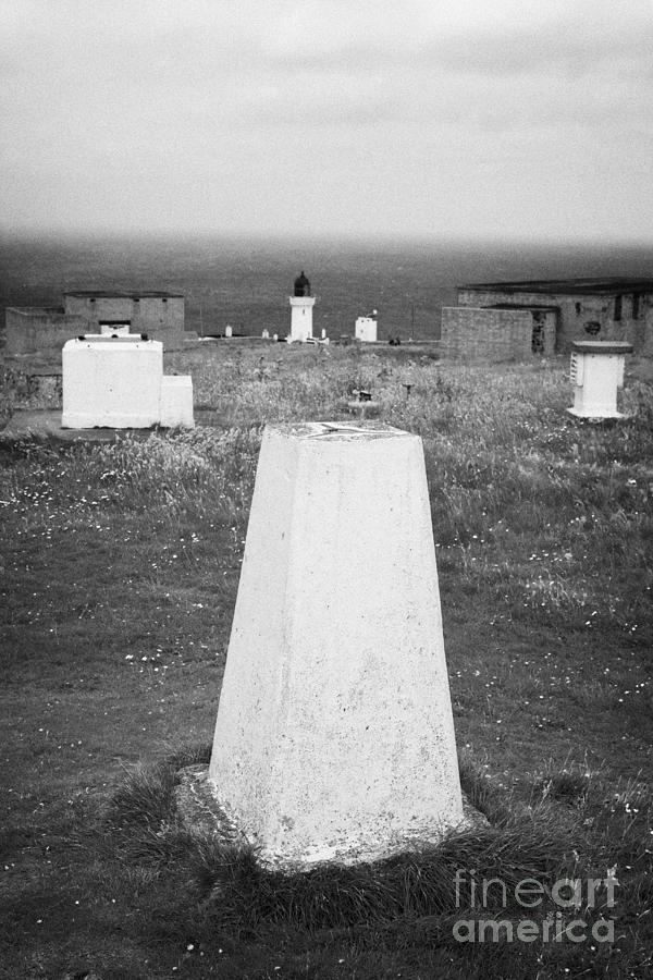 Dunnet Photograph - Triangulation Point And Old Weather Station At Dunnet Head Most Northerly Point Of Mainland Britain  by Joe Fox