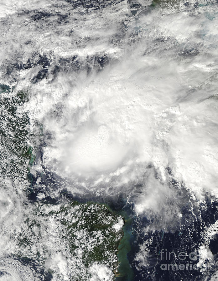 Cyclone Photograph - Tropical Storm Ida In The Caribbean Sea by Stocktrek Images