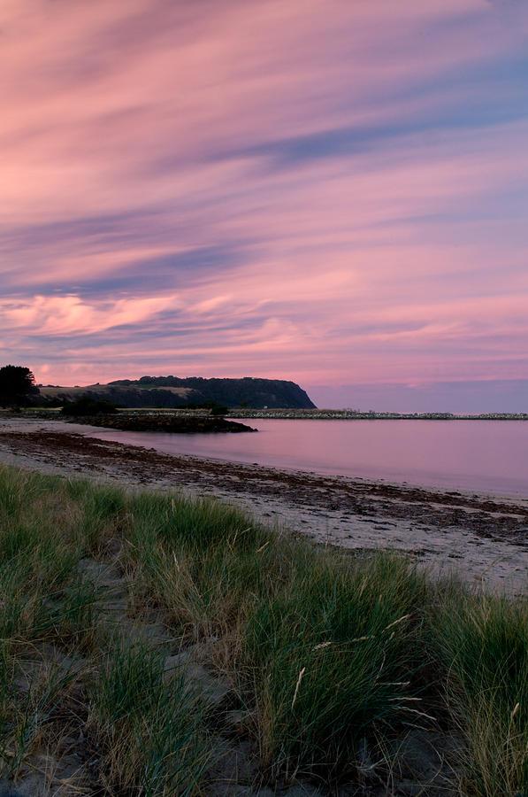 Red Photograph - Twilight After A Sunset At A Beach by Ulrich Schade