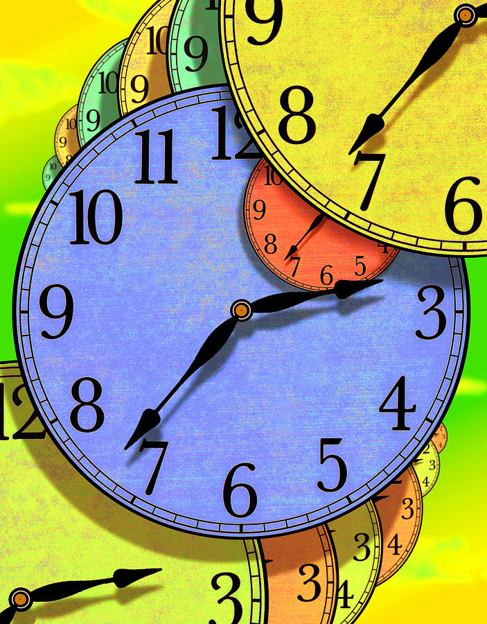 Clock Face Photograph - Two Thirty Seven by Mike McGlothlen
