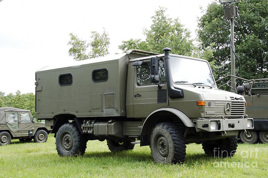 Belgium Photograph - Unimog Truck Of The Belgian Army by Luc De Jaeger