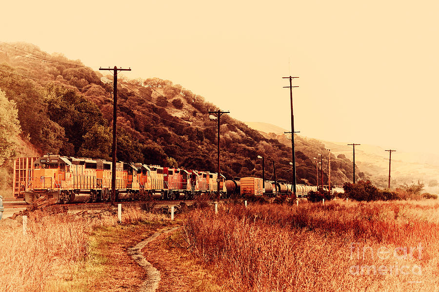 Retro Photograph - Union Pacific Locomotive Trains . 7d10558 by Wingsdomain Art and Photography
