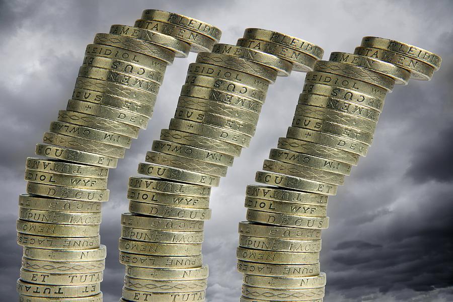Money Photograph - Unstable Economy, Conceptual Image by Victor De Schwanberg