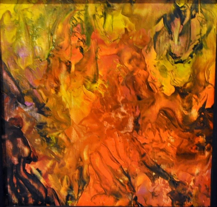 Abstract Mixed Media - Untitled by Brenda Chapman