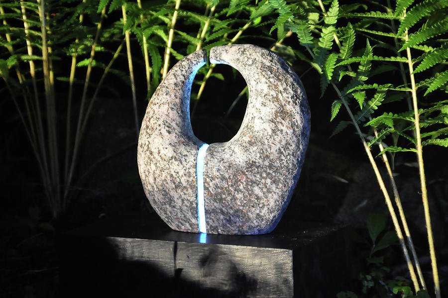 Stone Sculpture Sculpture - Untitled Glass And Rock Sculpture by Tommy  Urbans