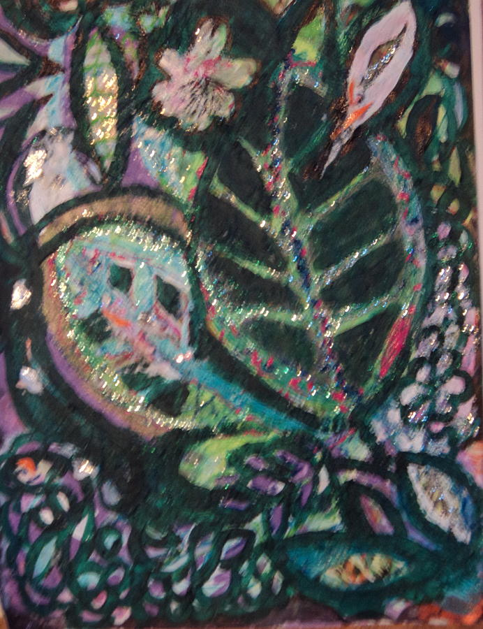 Abstract Painting - Up And Taking Nourishment by Anne-Elizabeth Whiteway