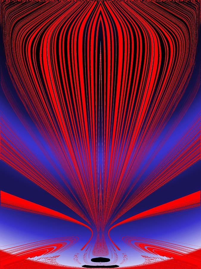 Abstract Digital Art - Up Up And Away by Tim Allen