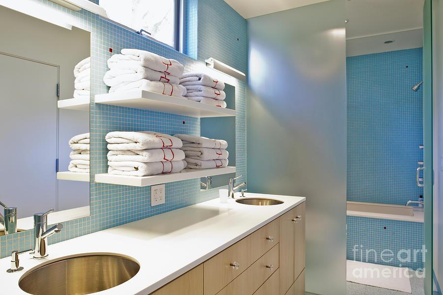 Bathroom Photograph - Upscale Bathroom Interior by Inti St. Clair