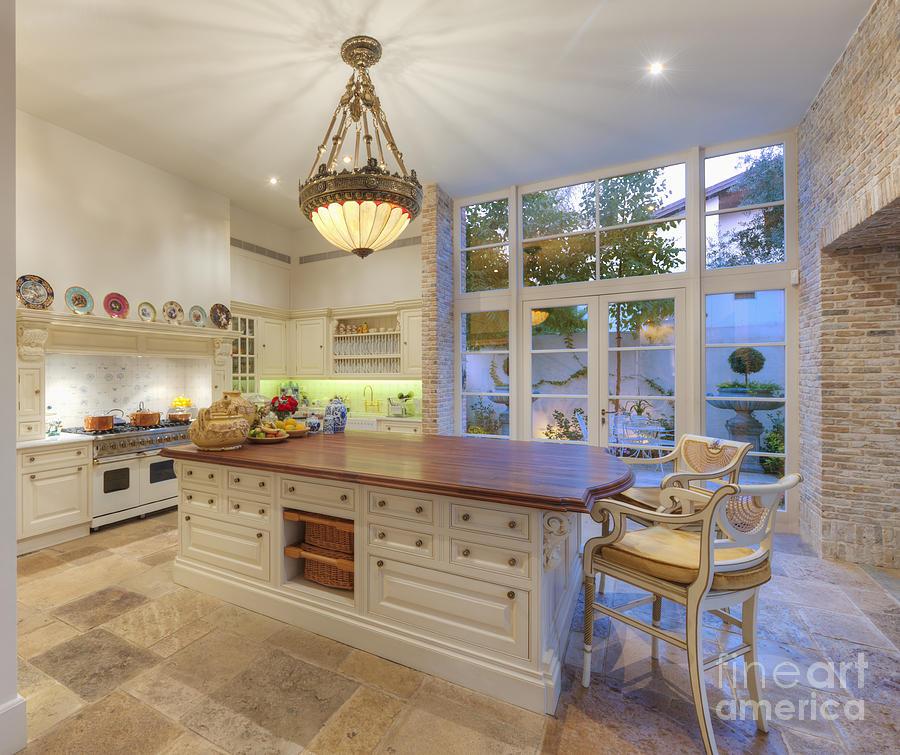 Apartment Photograph - Upscale Kitchen by Noam Armonn