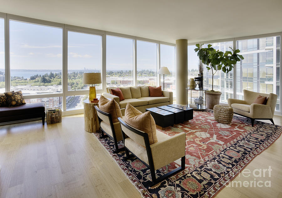 Upscale Living Room In High Rise Condo Photograph by Andersen Ross